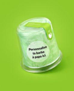 cadeau personnalise barbe à papa pomme verte